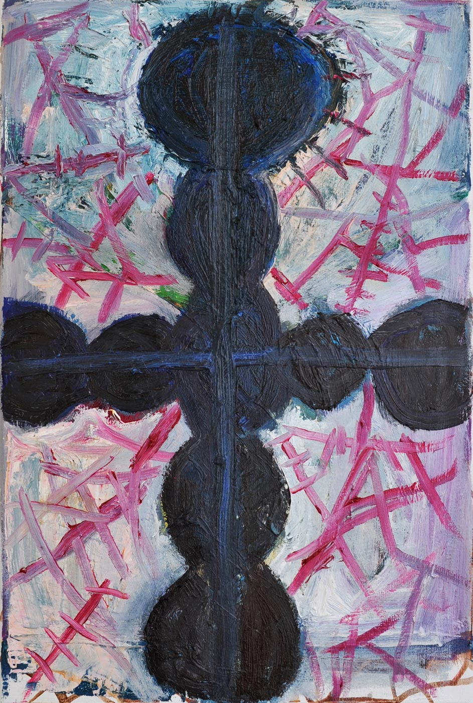 Manuel  Ocampo - Cross with Wounds, 2013